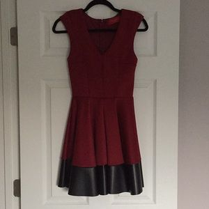Akira Fit and flare scuba dress